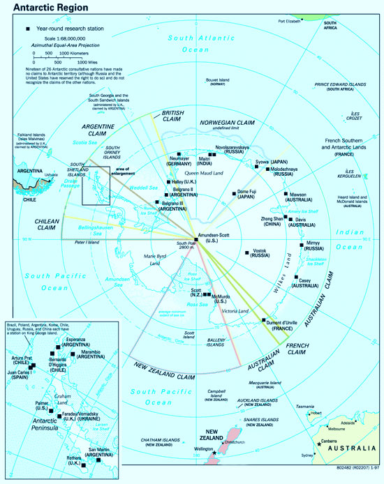 Antarctic Philately Antarctic Expedition Maps